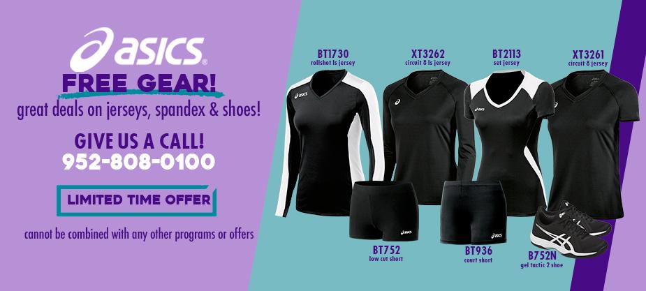f98e72b92066 ASICS FRE GEAR! Exclusive deals on jerseys