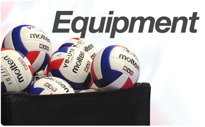 volleyball facilities and equipment The court shall be 60 feet (18 meters) long and 30 feet (9 meters) wide,  the  volleyball shall be spherical with a laceless molded cover of 12 or more panels of .