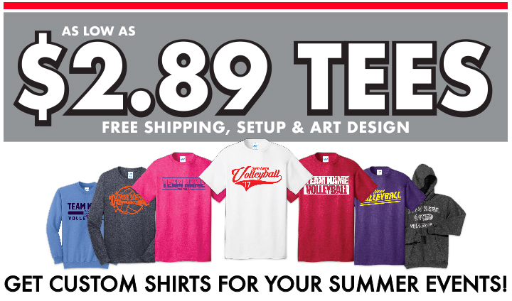 Custom Volleyball T-Shirts | Midwest Volleyball Warehouse