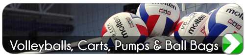 Volleyballs, carts, pumps & ball bags