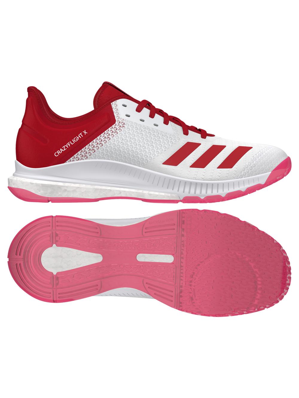 Adidas Crazyflight X3 Shoes - White/Red