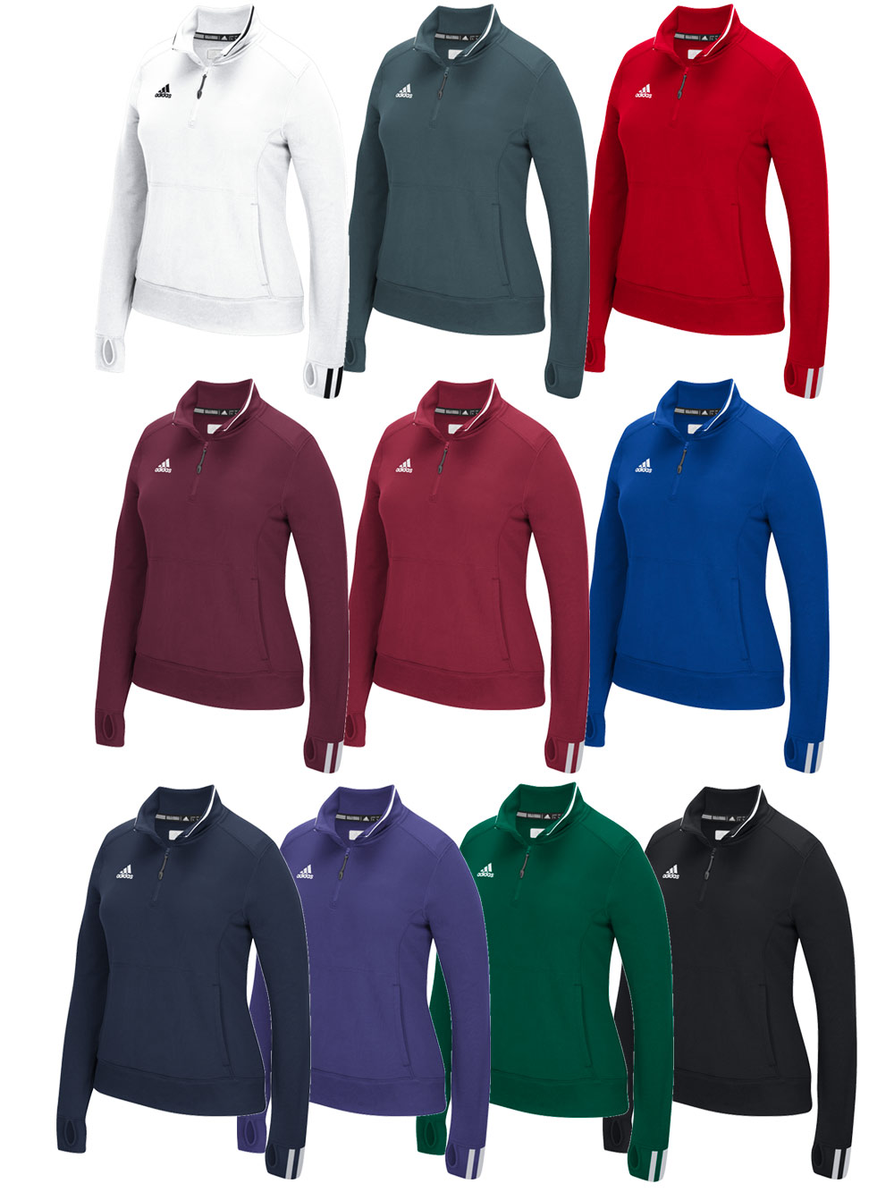 adidas 1/4 zip fleece