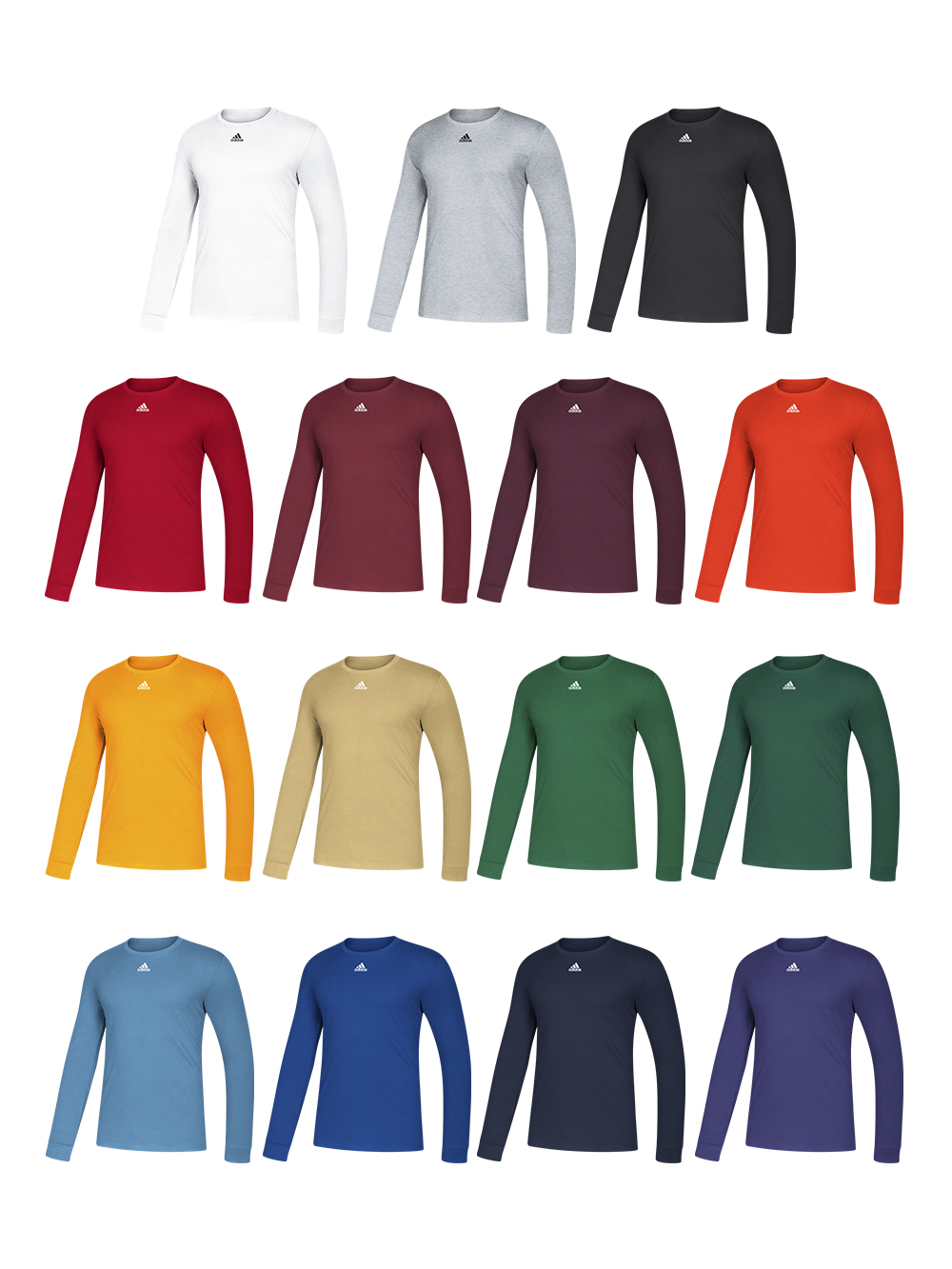 Adidas Men's Amplifier Long Sleeve Tee | Midwest Volleyball Warehouse