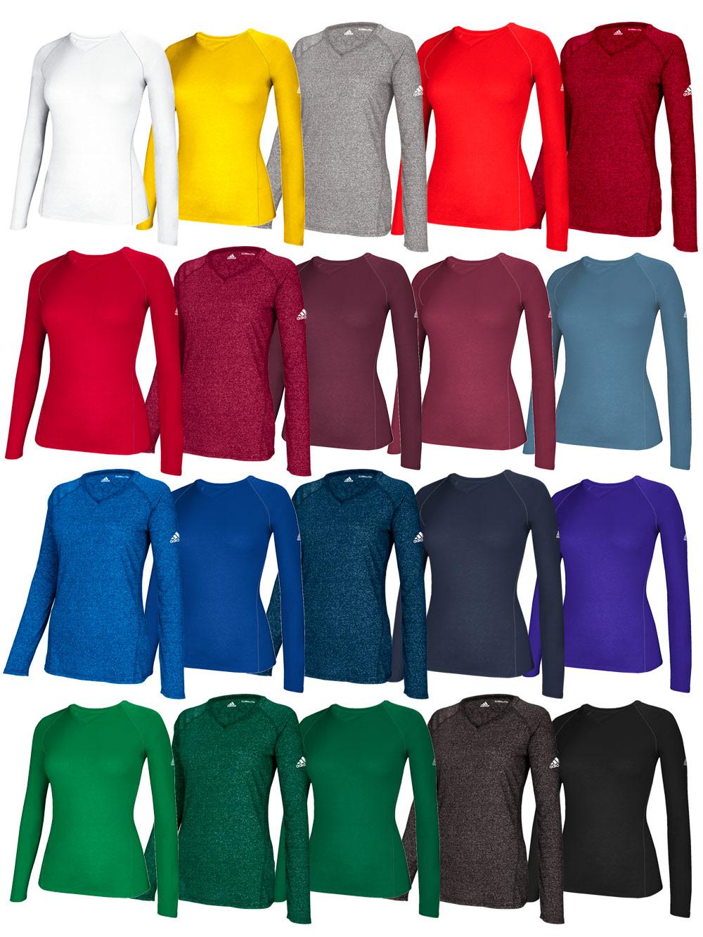 Women s ADIDAS Climalite Long Sleeve Tee  a98b83f13b