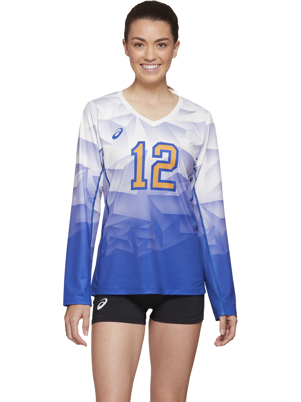 Asics Sublimated Custom Long Sleeve Jersey Midwest Volleyball Warehouse