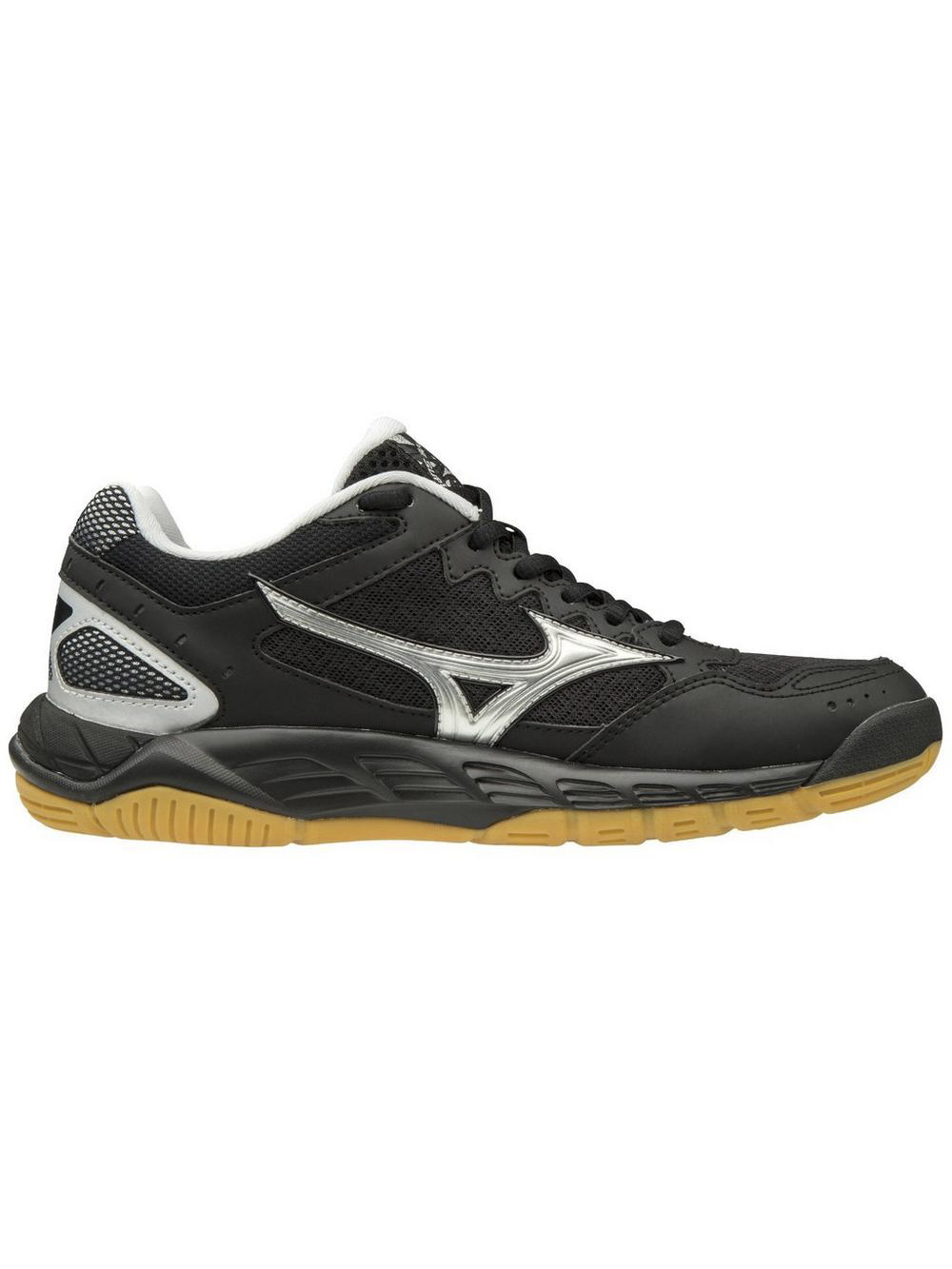 Mizuno Wave Supersonic Shoe Black Silver Midwest