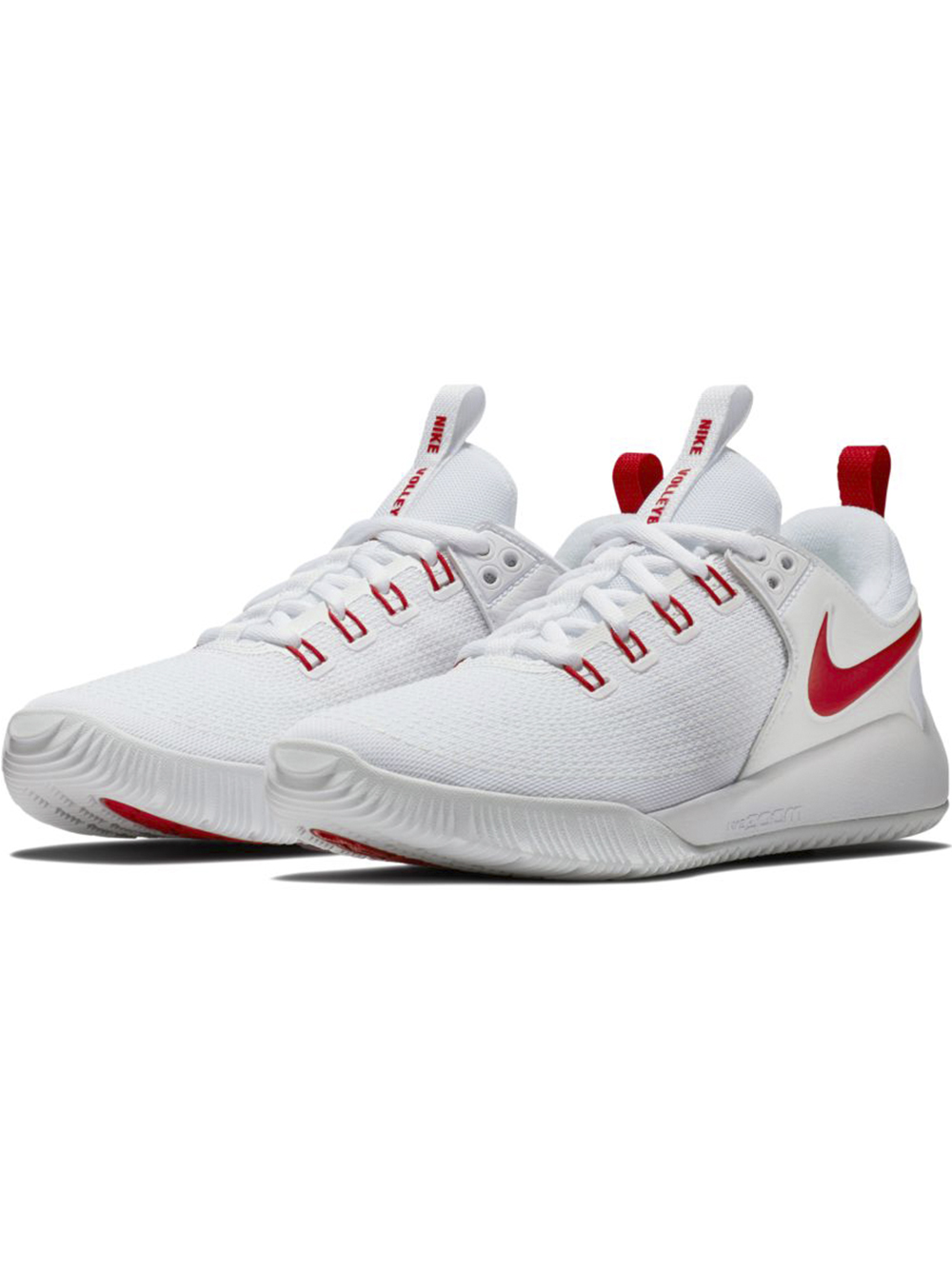 Women's Nike Zoom HyperAce 2 Shoes WhiteRed | Midwest Volleyball Warehouse