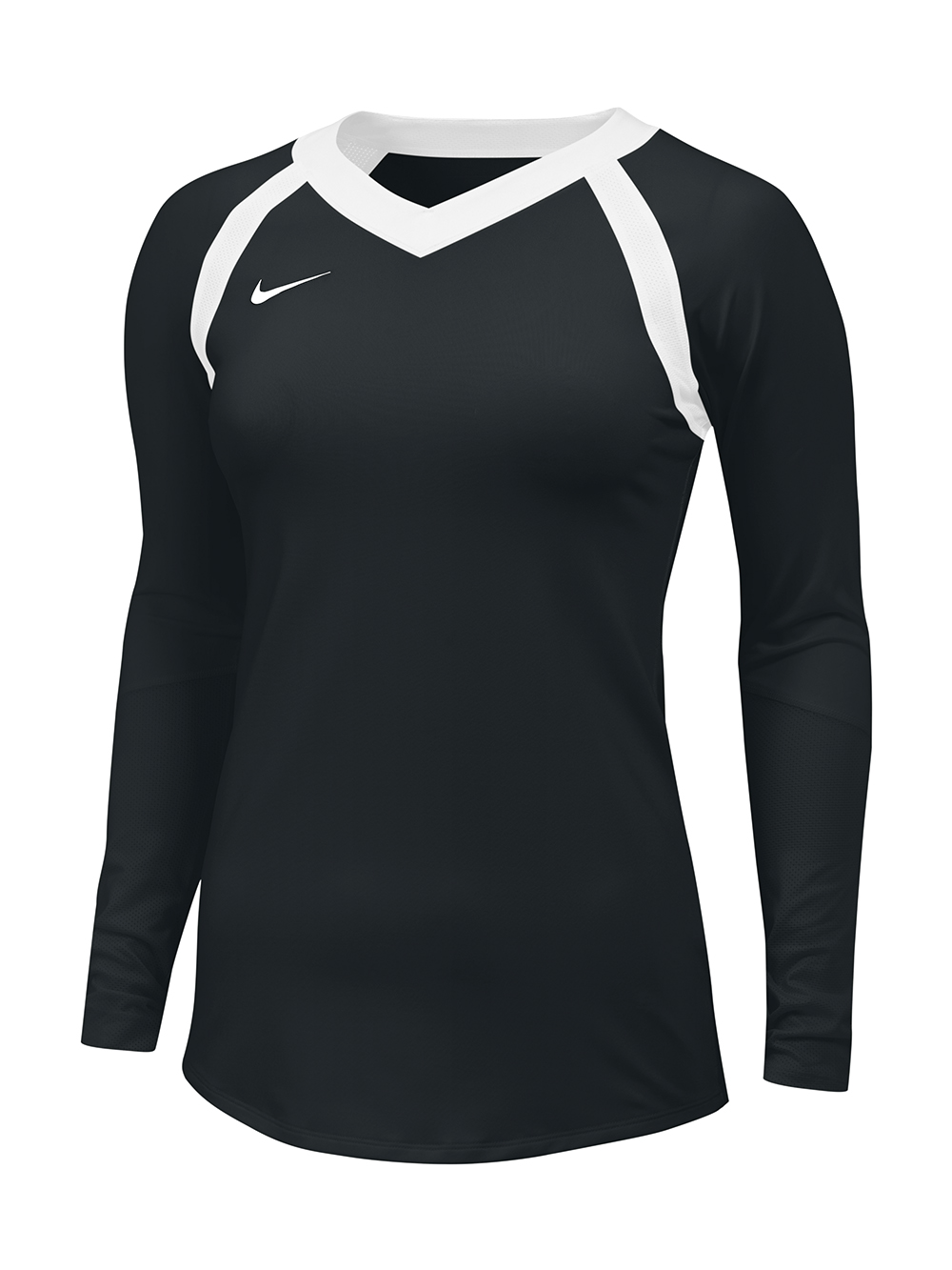 best loved 03c93 f6b5f Nike Agility L/S Jersey - Black/White | Midwest Volleyball Warehouse