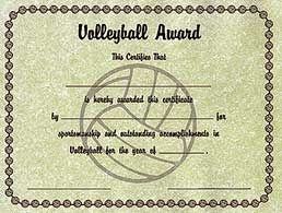 Pin Certificate Volleyball Printable Mvp Certificate Volleyball Club ...